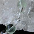 ヒマラヤ水晶+グリーンフローライトブレス