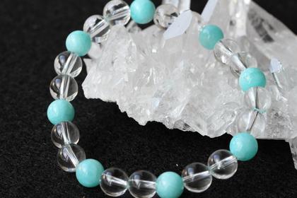ヒマラヤ水晶+アマゾナイト ブレスレット